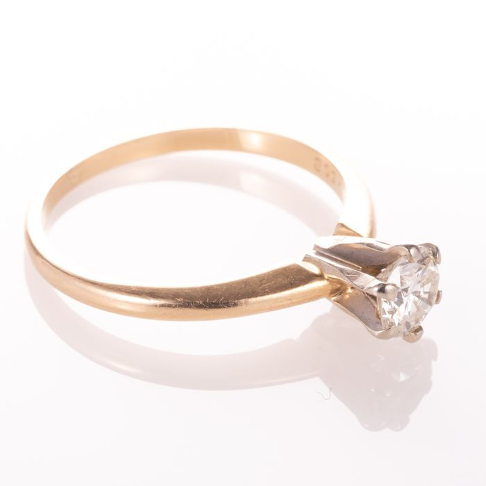 14ct Gold 0.50ct Diamond Solitaire Ring - Image 5 of 7