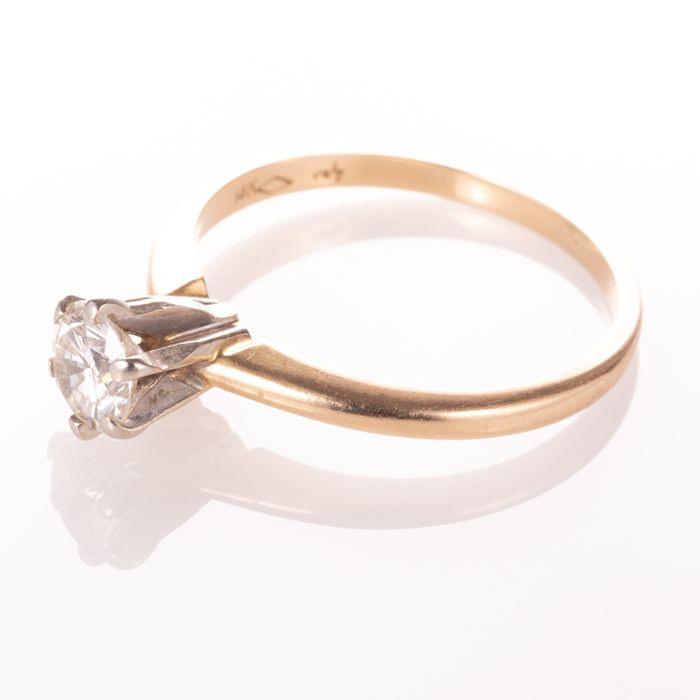 14ct Gold 0.50ct Diamond Solitaire Ring - Image 3 of 7