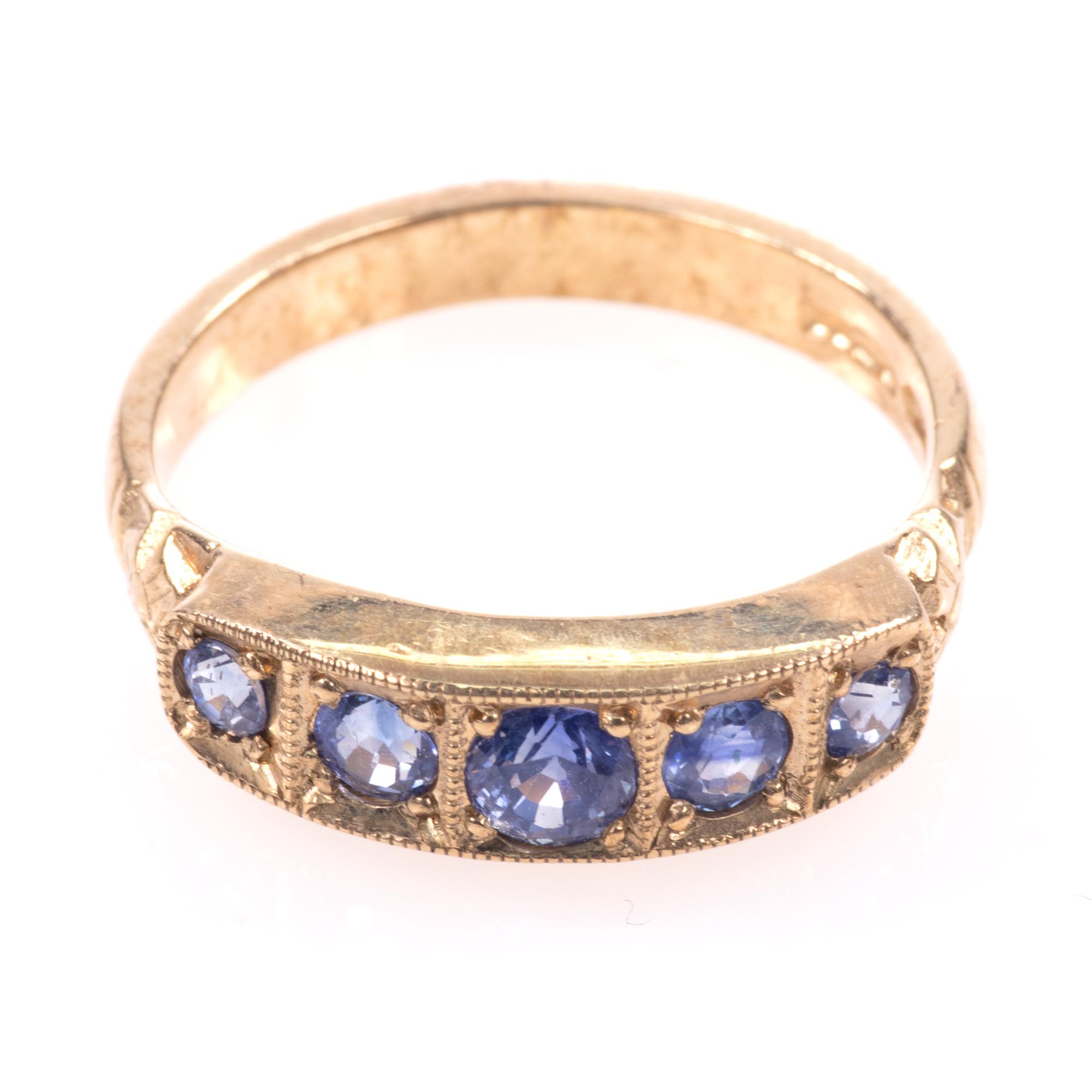 9ct Gold Aquamarine Ring - Image 3 of 8