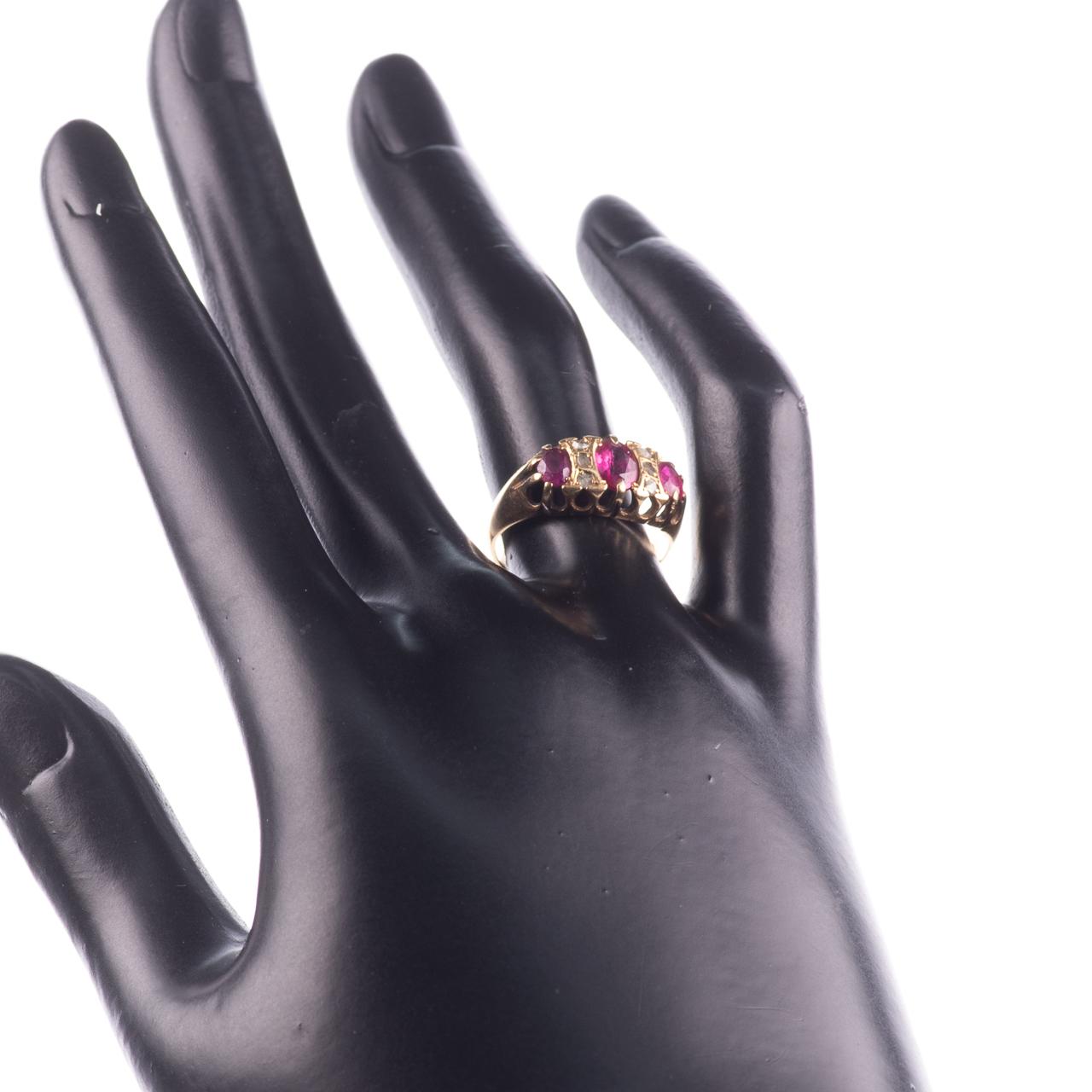18ct Gold 1.20ct Ruby & Diamond Ring Birmingham 1915 - Image 2 of 7