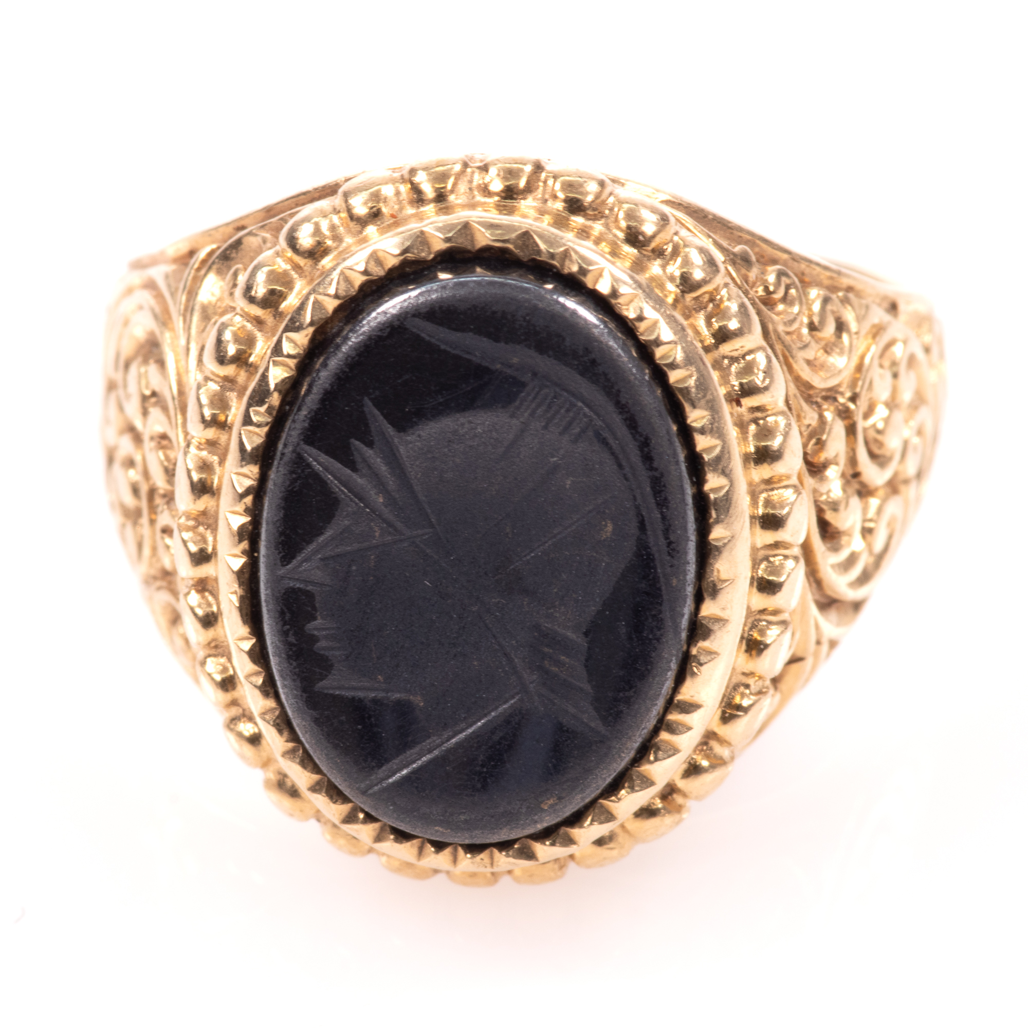 9ct Gold Centurion Onyx Signet Ring - Image 3 of 7