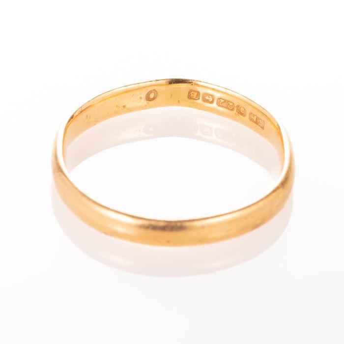 22ct Gold Wedding Band Ring Birmingham 1951 - Image 4 of 6