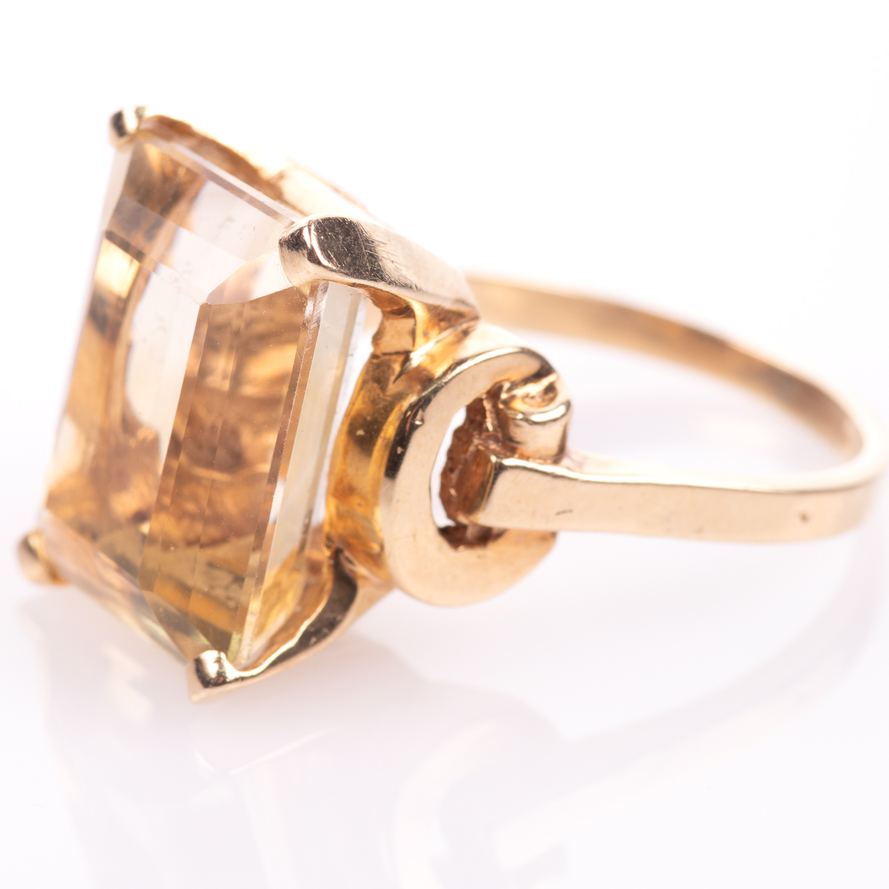 14ct Gold 15ct Citrine Ring - Image 4 of 7