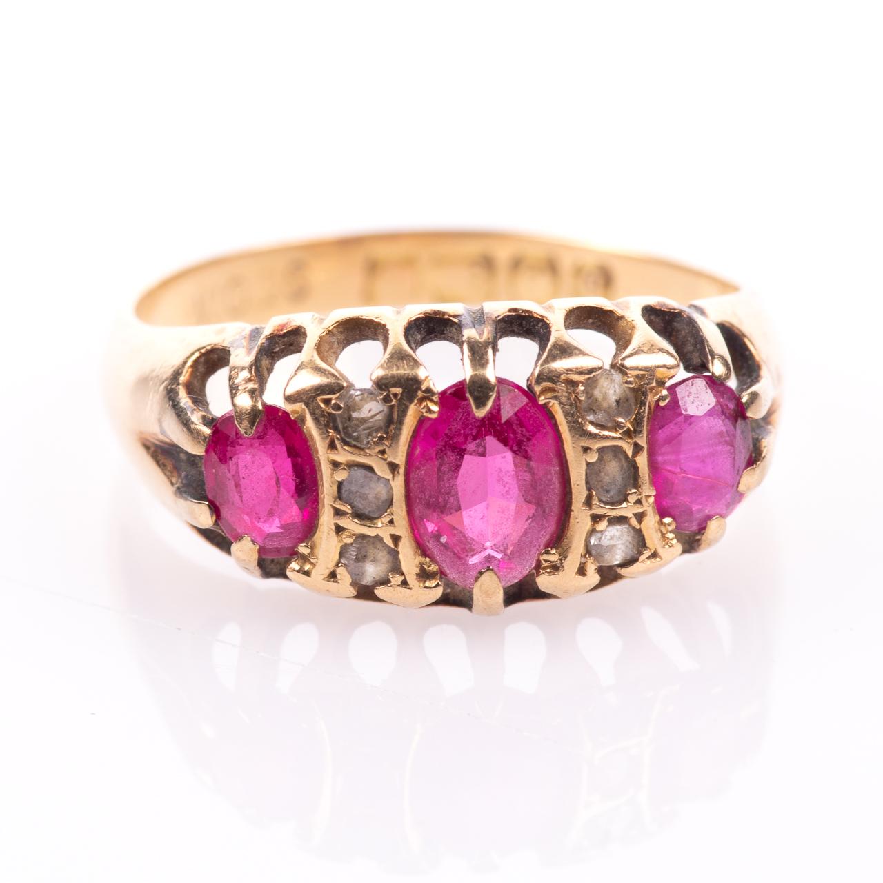 18ct Gold 1.20ct Ruby & Diamond Ring Birmingham 1915 - Image 3 of 7