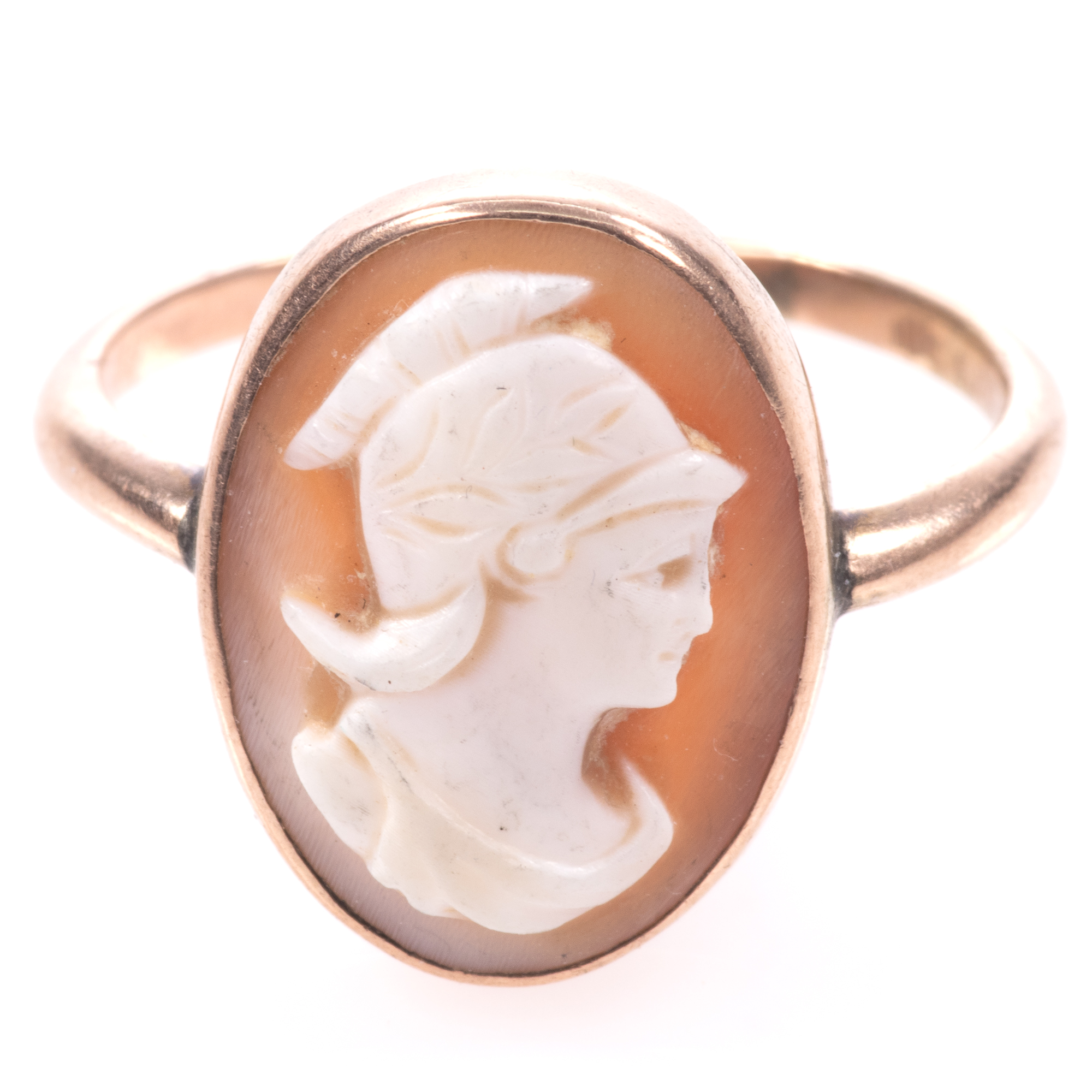 9ct Gold Roman Cameo Ring - Image 3 of 7