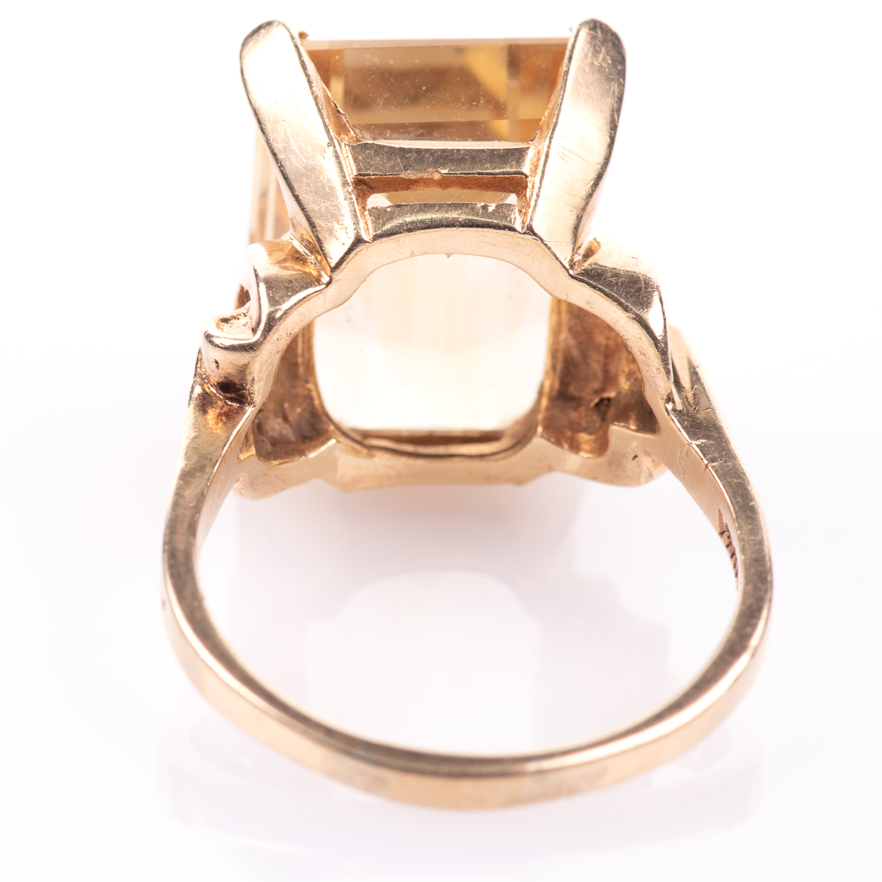 14ct Gold 15ct Citrine Ring - Image 6 of 7