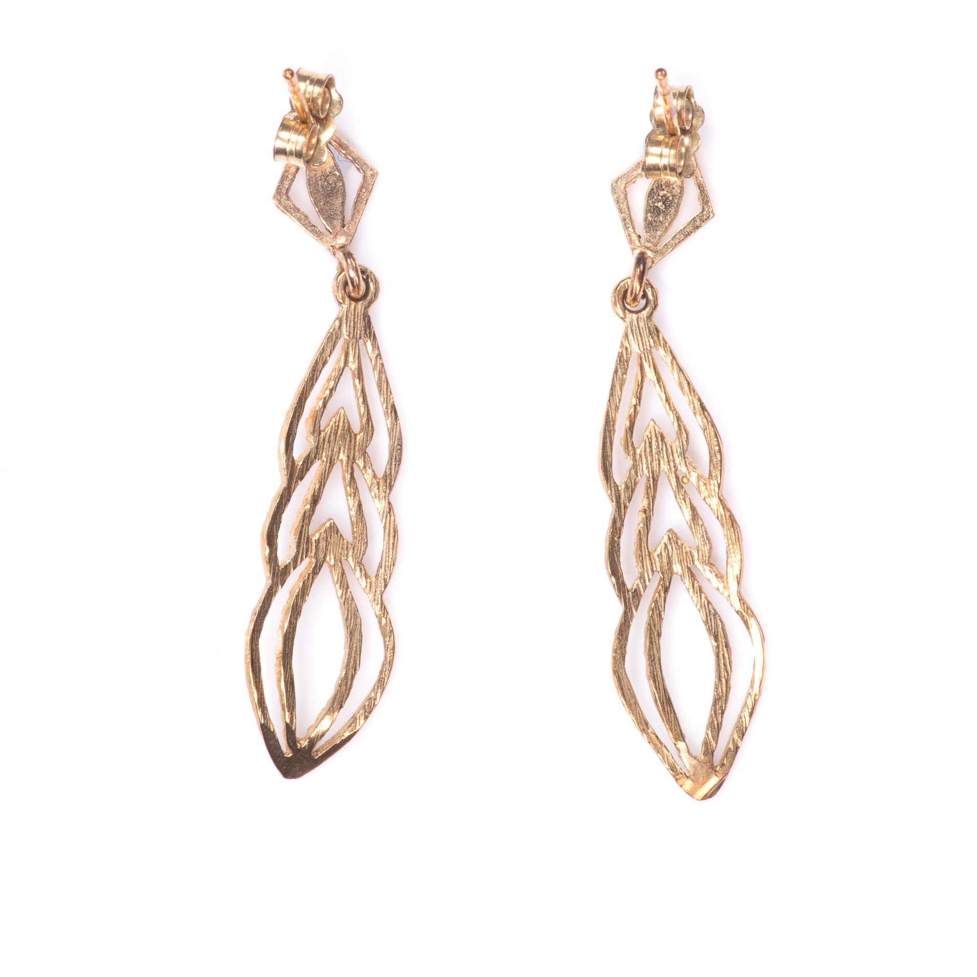 9ct Gold Filigree Earrings
