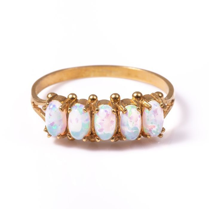 Opal Gilded Ring