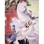 """JACQUES BOERI (1929-2004) Post Cubist """"Femme Nue"""""""