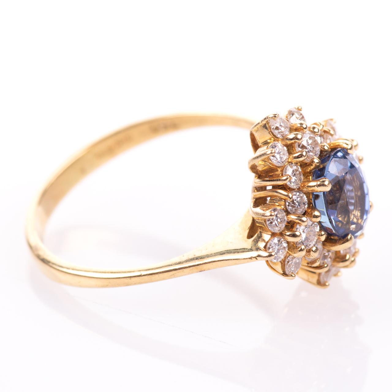 18ct Gold 1ct Sapphire & 0.70ct Diamond Ring - Image 8 of 8