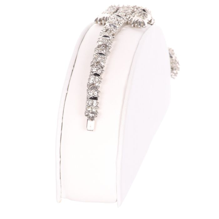 Cartier Style Articulated Panther Enamel Bracelet - Image 4 of 5