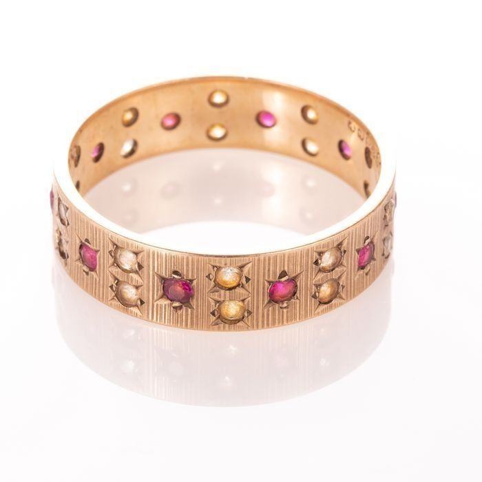 9ct Gold Art Deco Ruby Ring - Image 3 of 6