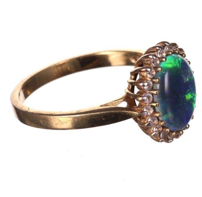 Gilt Black Opal Ring - Image 3 of 6