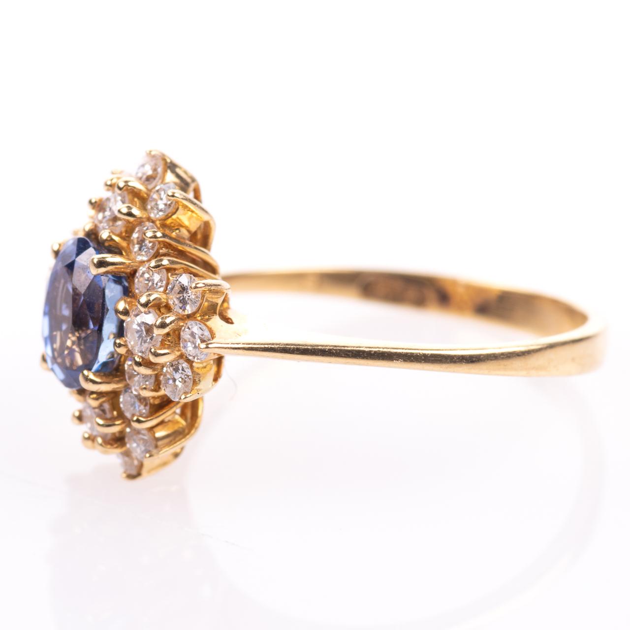 18ct Gold 1ct Sapphire & 0.70ct Diamond Ring - Image 4 of 8