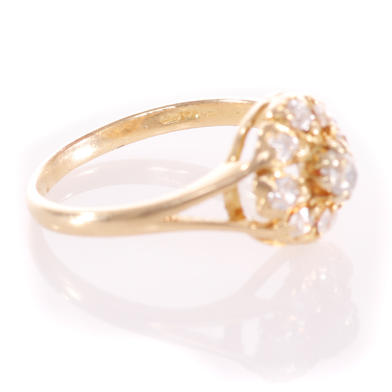 18ct Gold Rose Cut 0.35ct Diamond Cluster Ring - Image 7 of 8