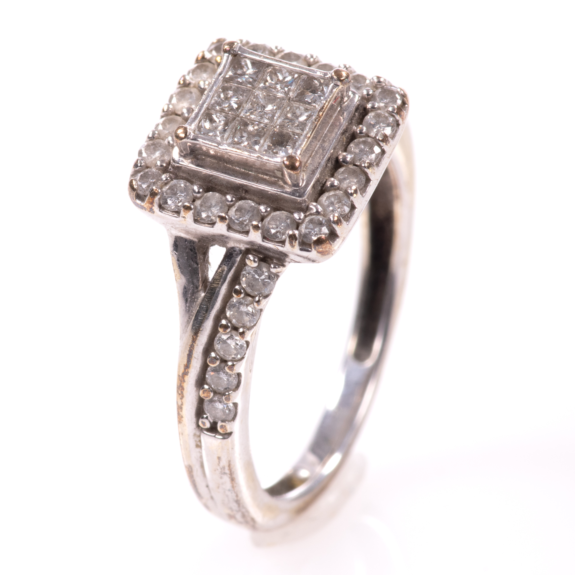 9ct White Gold 0.40ct Diamond Ring