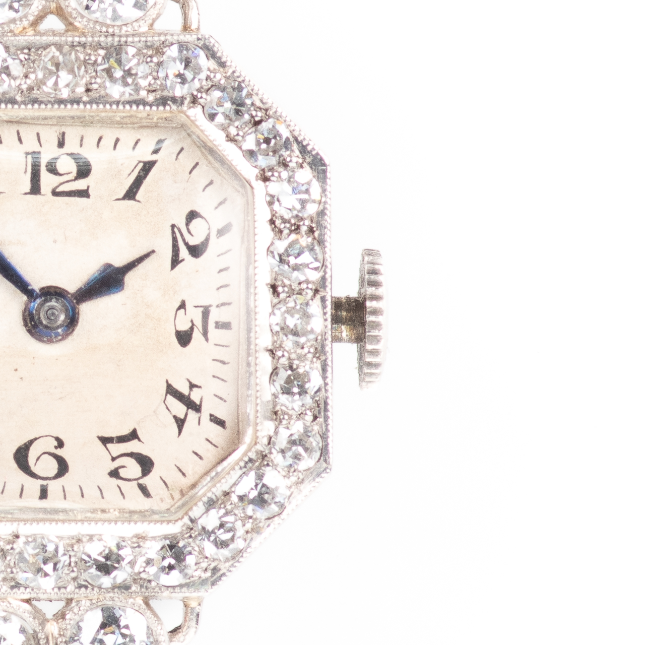 Platinum Art Deco 0.90ct Diamond Watch Brooch - Image 3 of 6