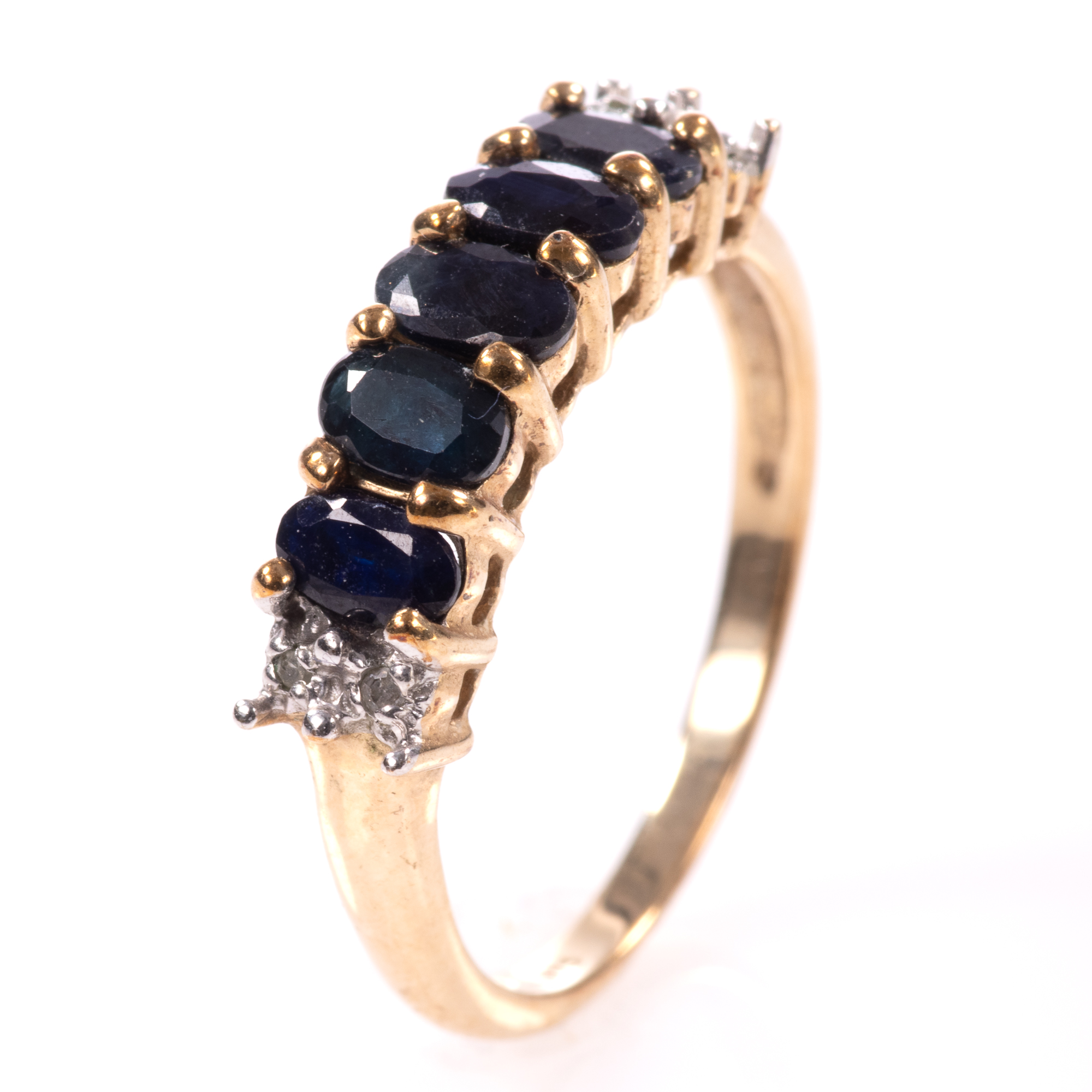 9ct Gold 5ct Sapphire & Diamond Ring