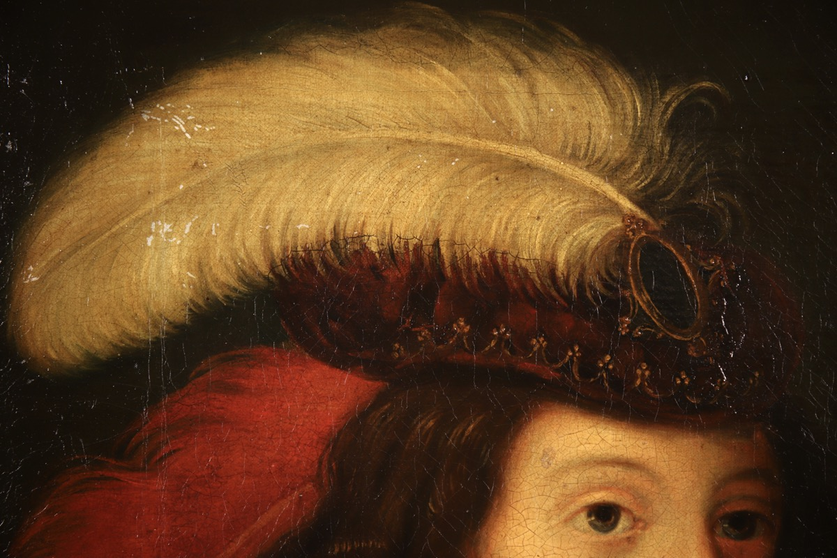 XVII French Old Master Portrait (ca 1660) - Image 8 of 11