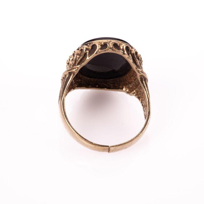 9K Gold Hardstone Intaglio Roman Style Ring - Image 5 of 7