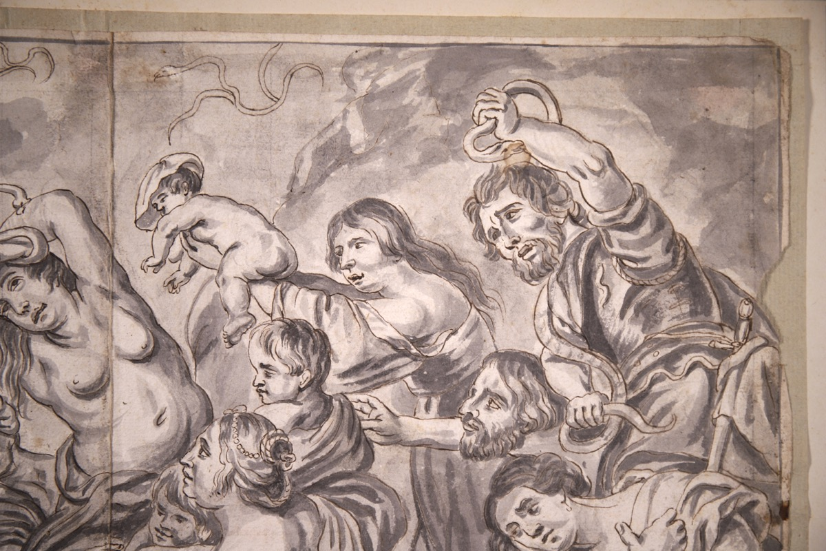 XVIII Ink & Wash French Old Master Drawing - Image 2 of 8