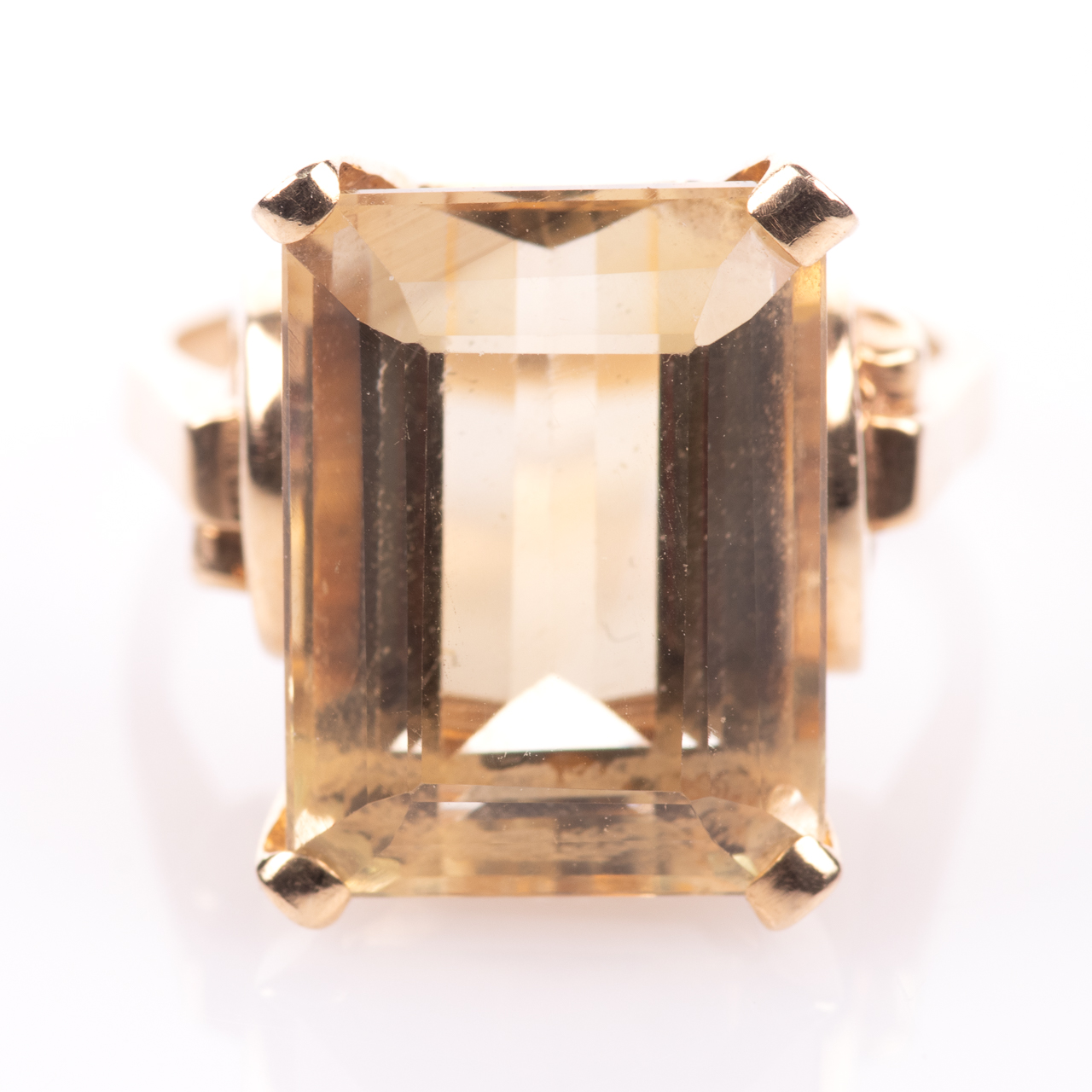 14ct Gold 15ct Citrine Ring - Image 3 of 7