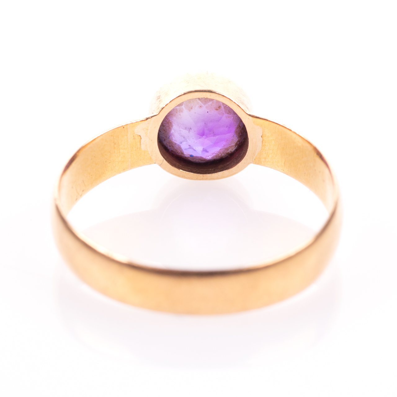 22ct Gold Victorian Amethyst Ring Chester 1899, Howard & Walsh - Image 6 of 7