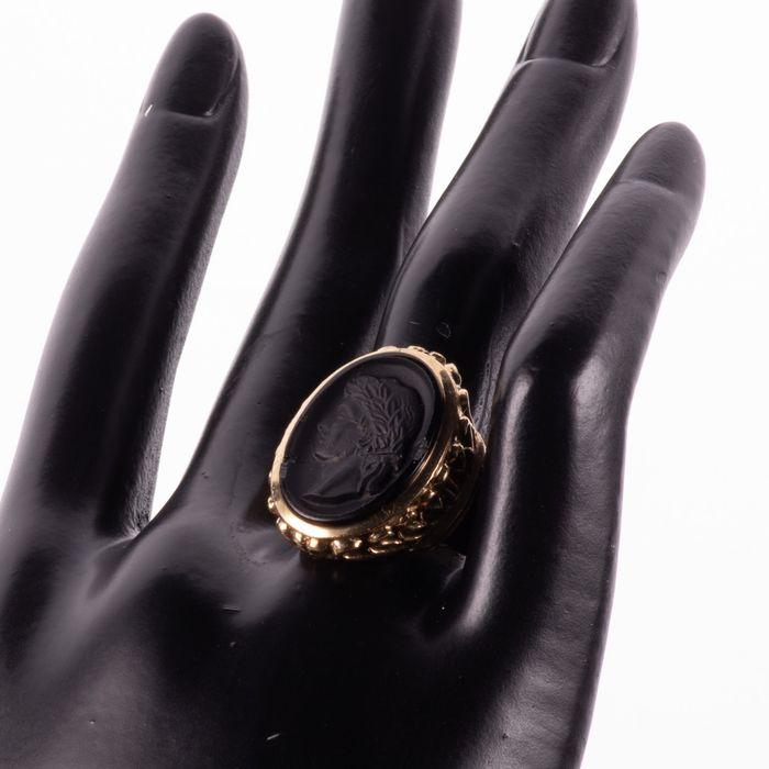 9K Gold Hardstone Intaglio Roman Style Ring - Image 2 of 7