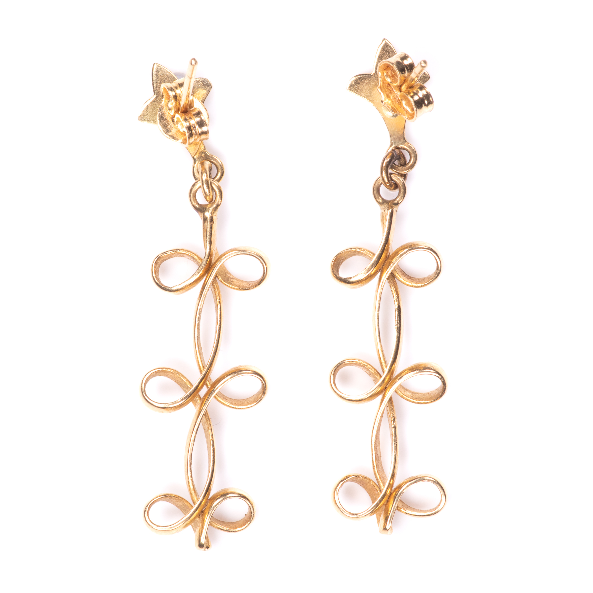 18ct Gold Earrings - Image 3 of 7