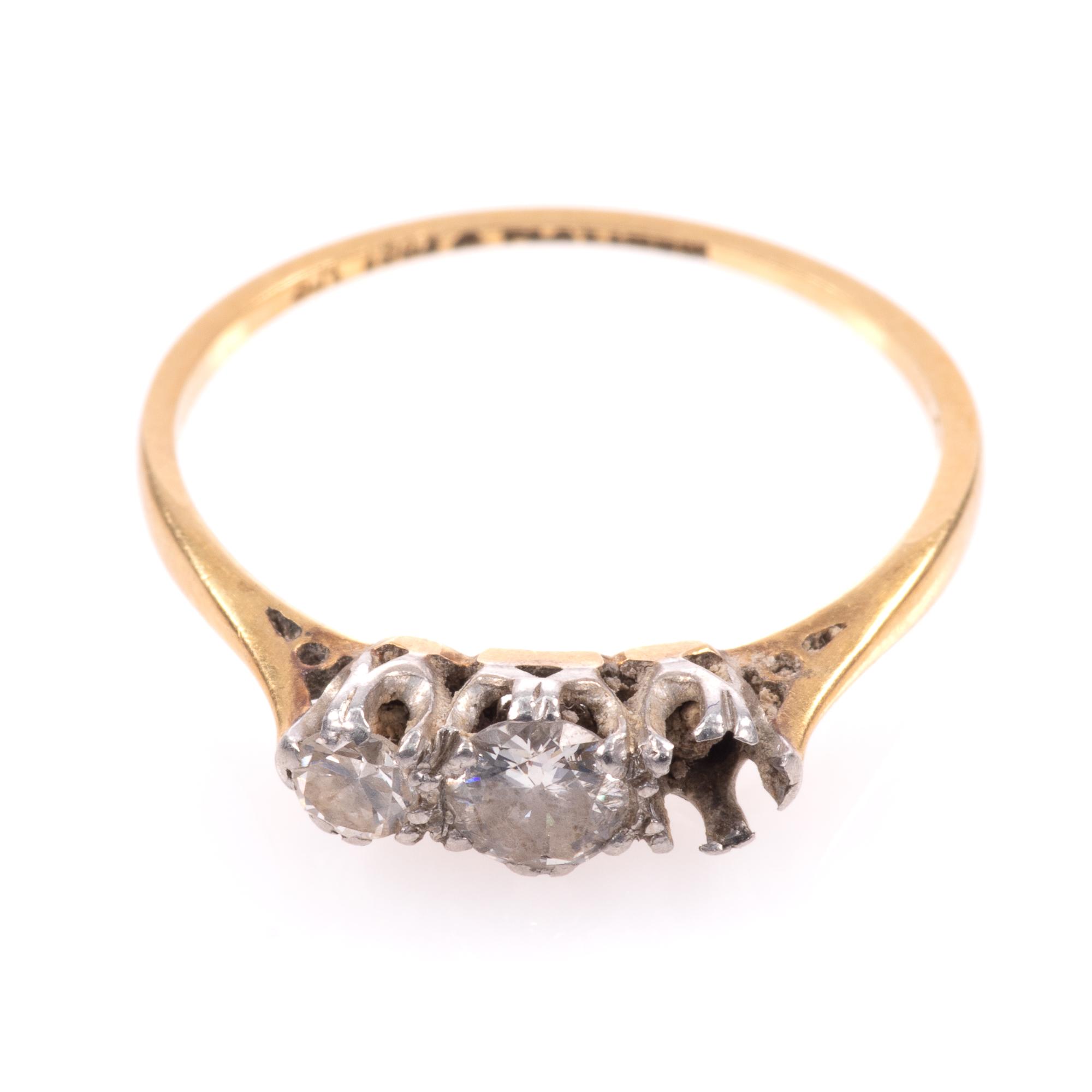 18ct Gold & Platinum 0.40ct Diamond Ring - Image 3 of 8