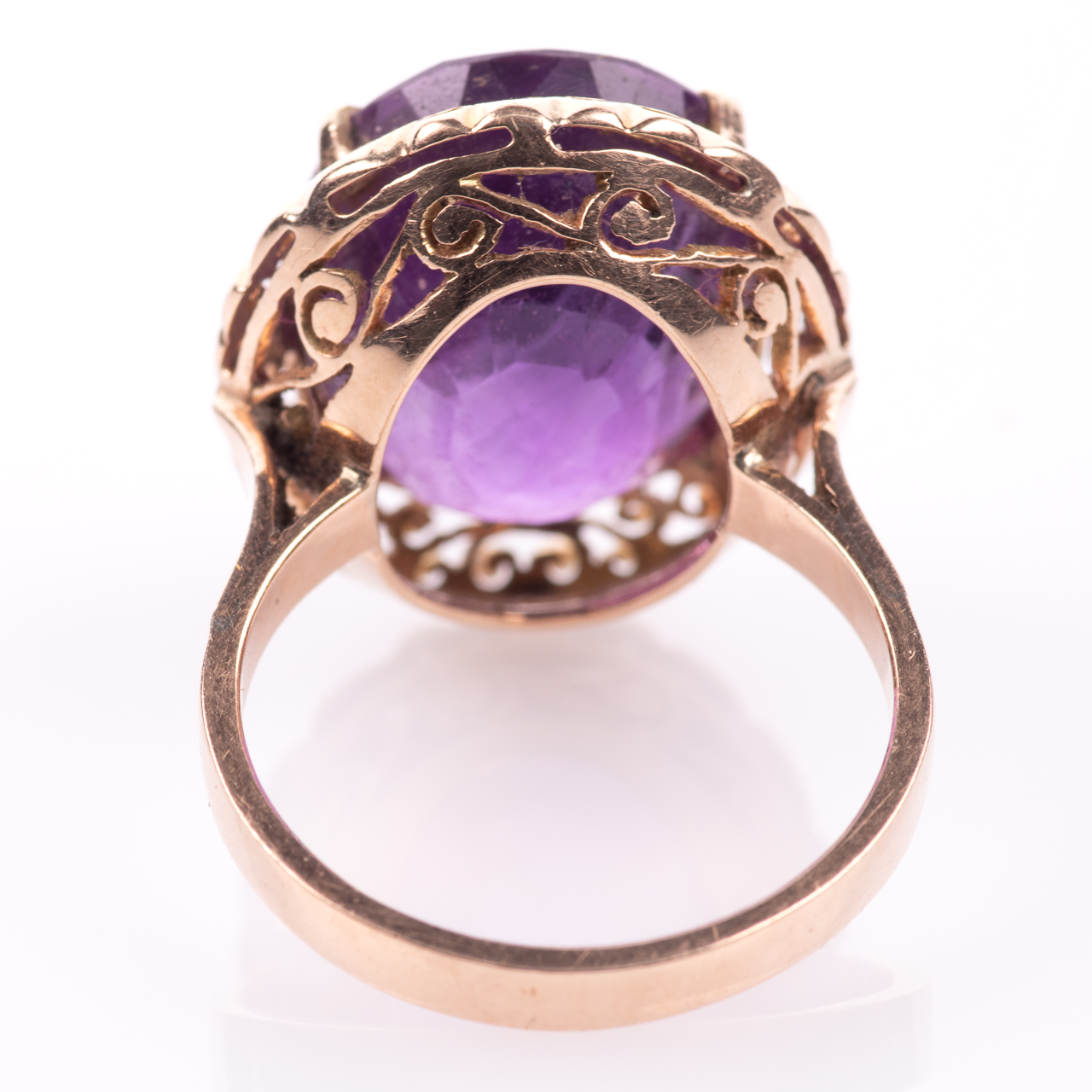14ct Gold Amethyst Ring - Image 6 of 7
