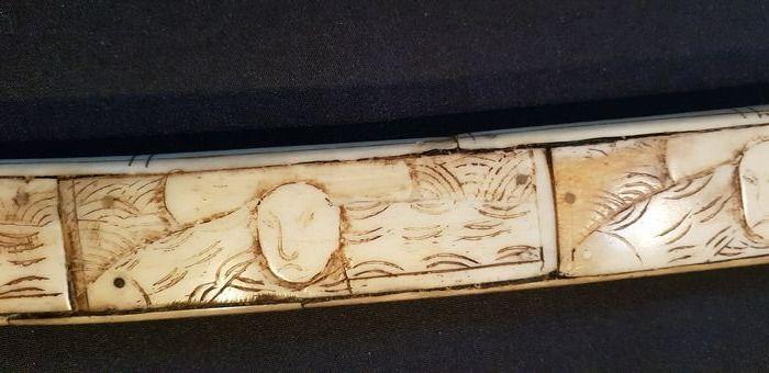 XIII Carved Bone Japanese Wakizashi Katana Edo Period ???? - Image 5 of 10