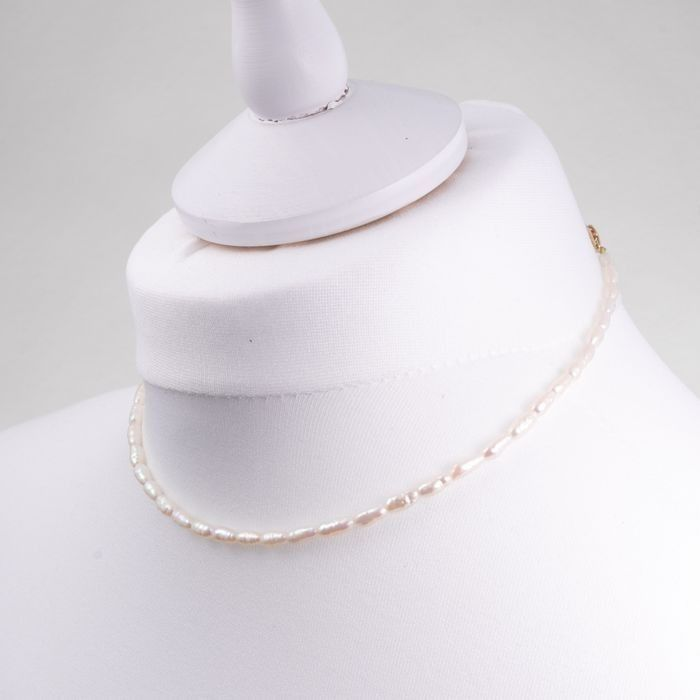 14ct Gold Baroque Pearl Necklace - Image 2 of 3
