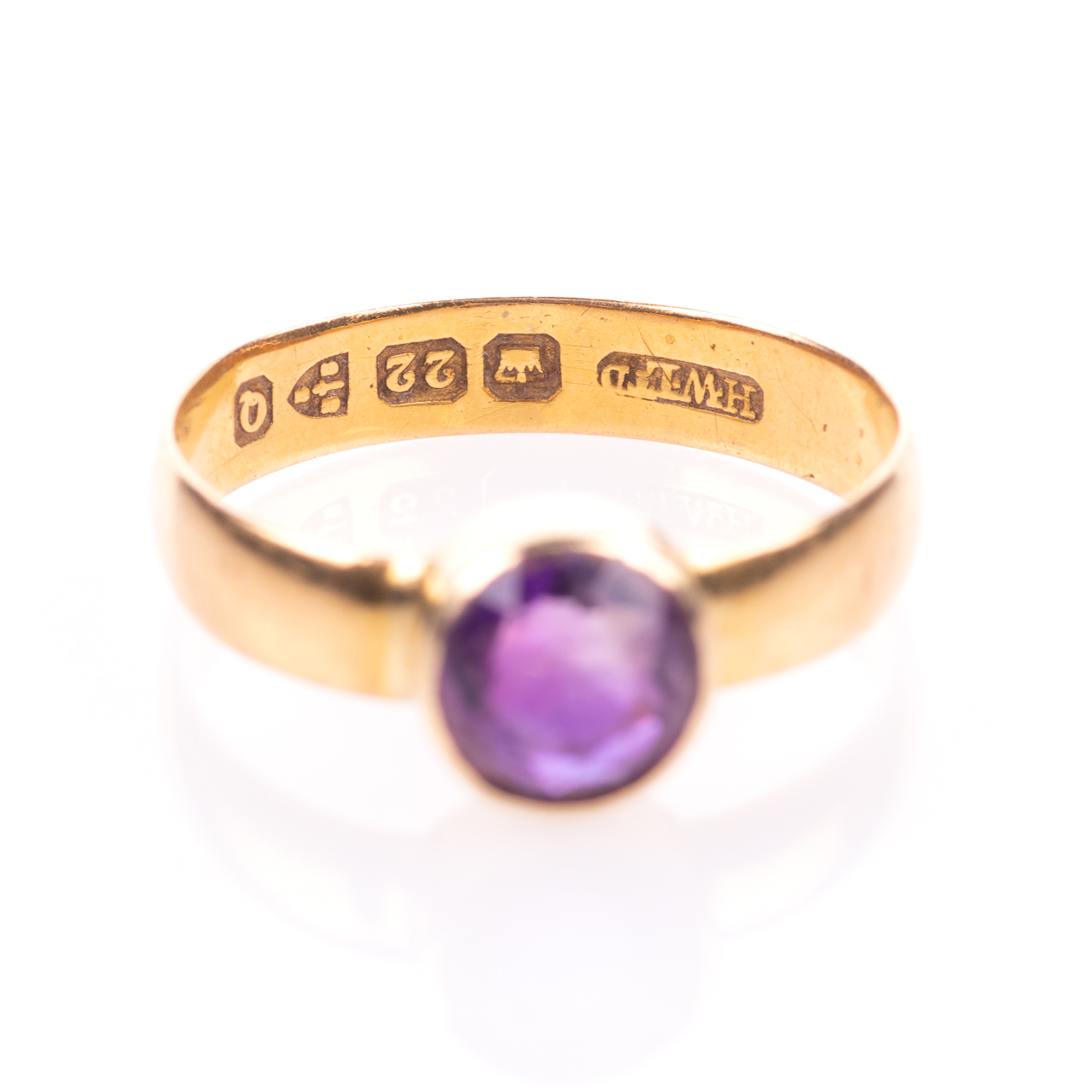 22ct Gold Victorian Amethyst Ring Chester 1899, Howard & Walsh - Image 4 of 7