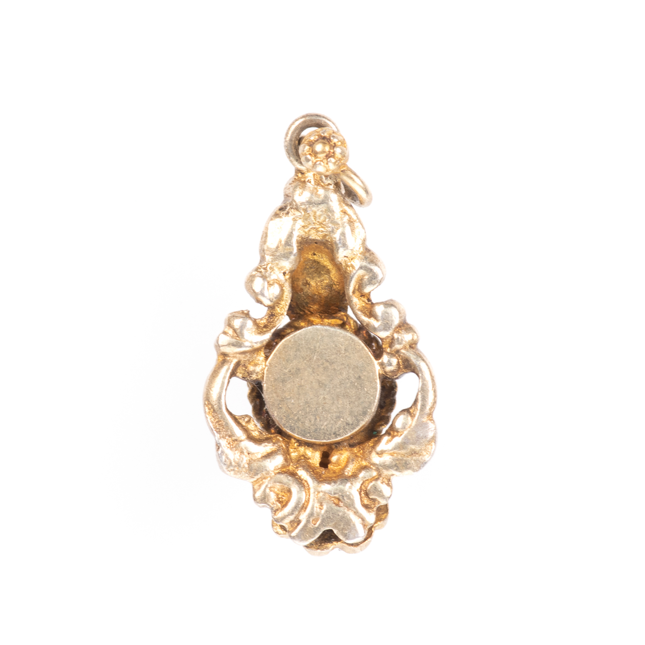 Momento Mori Pinchbeck Pearl & Banded Agate Victorian Pendant - Image 4 of 4