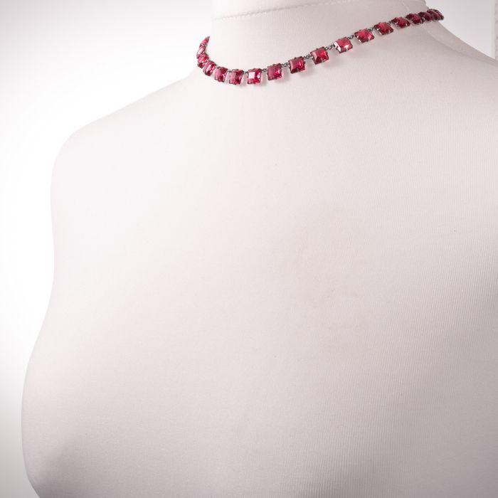 Art Deco Paste Necklace - Image 2 of 5