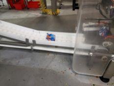 incline belt conveyor with washdown motor