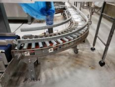 powered roller conveyor with SS washdown motor