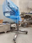 CTM 360 series labeler, with mild steel stand on casters
