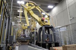 Fanuc palletizing robot model M-410-iB16 with controller and pendant