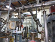 (5) 2 in. stainless steel ball valves
