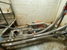 Cablevey cable conveyor, 4 in. diameter, approximately 200 ft. of stainless steel tube and cable