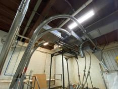 Cablevey cable conveyor, 4 in. diameter, approximately 70 ft. of stainless steel tube and cable