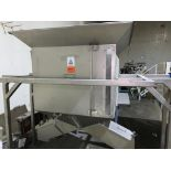 stainless steel dual chute hopper