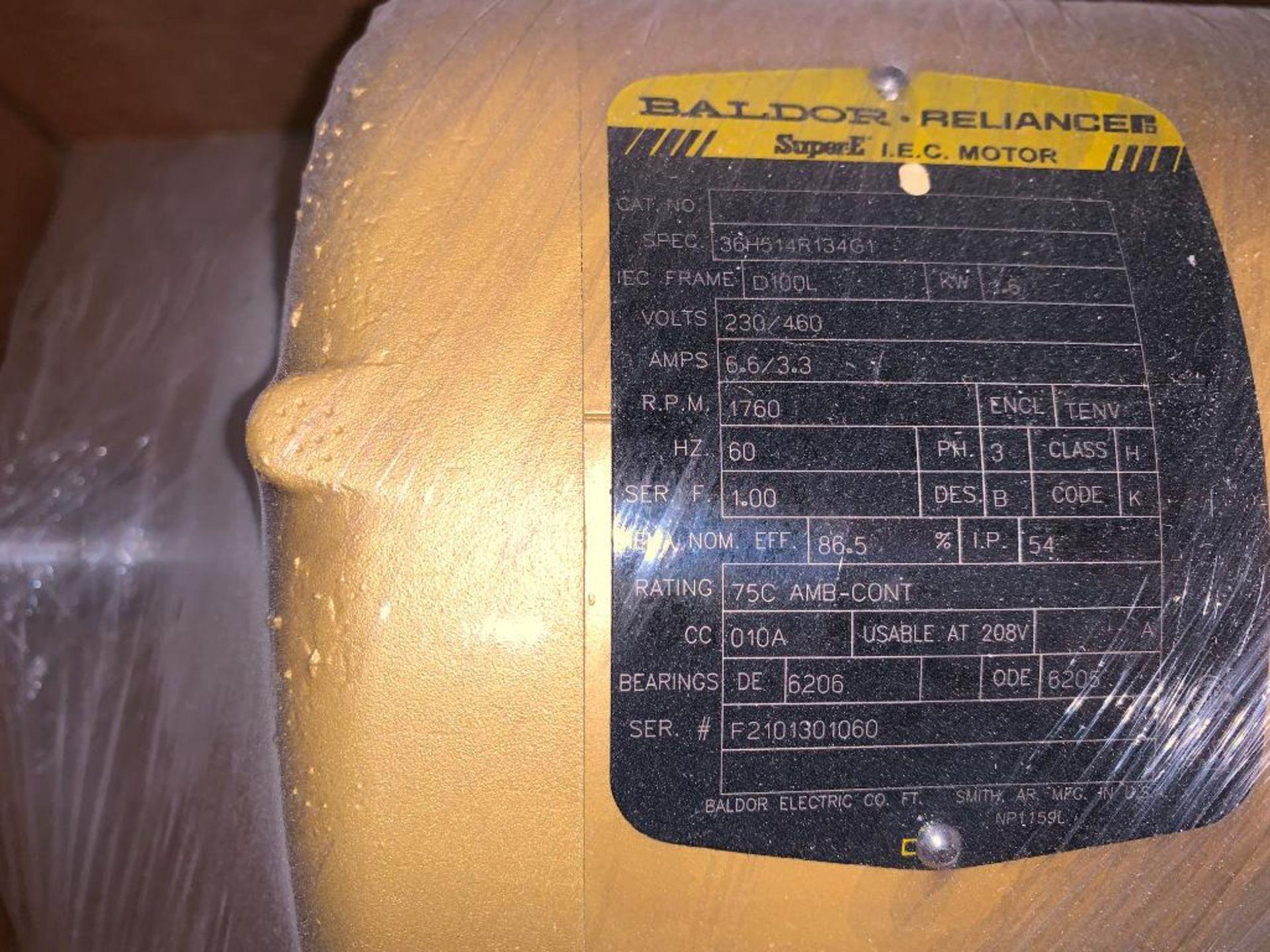 (3) unused Baldor electric motors - Image 5 of 7