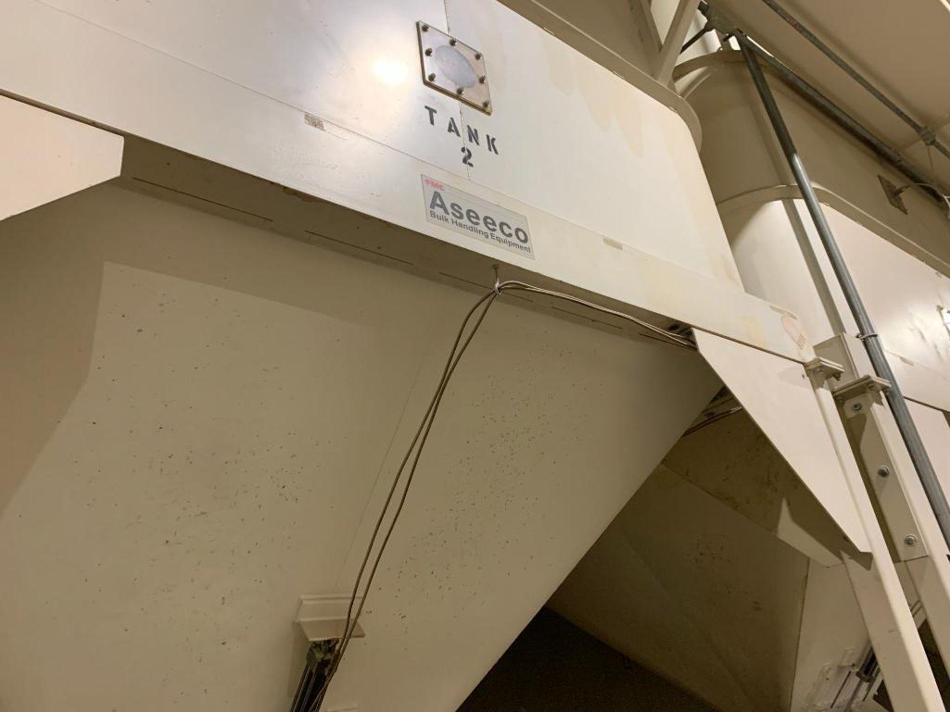 Aseeco mild steel cone bottom bulk storage bin - Image 9 of 25