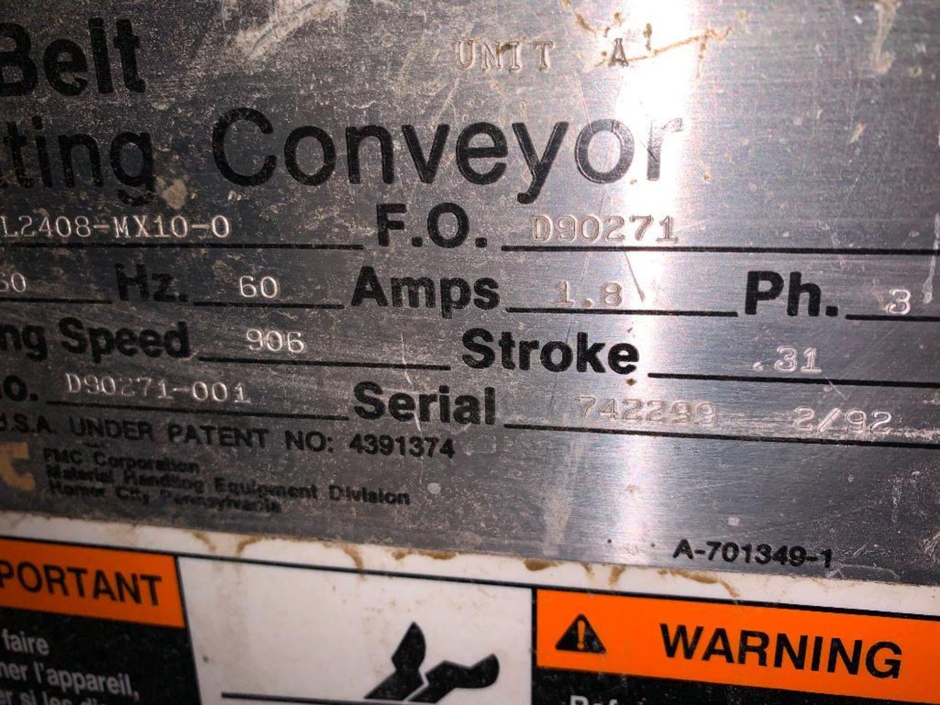 1993 Link-Belt stainless steel vibratory scalping conveyor - Image 6 of 10