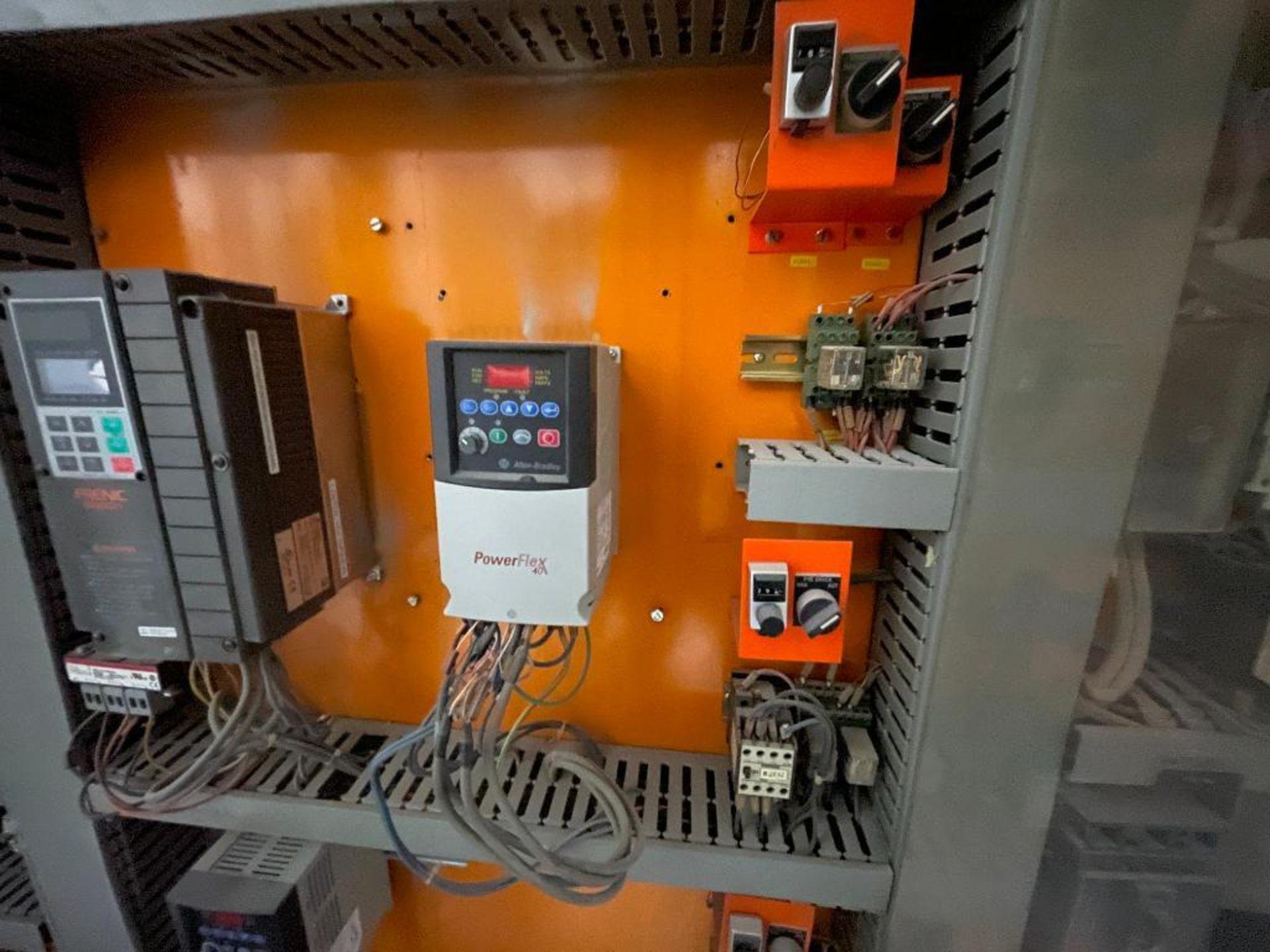 7-door mild steel air conditioned control cabinet, 5-VFD's - Image 22 of 43