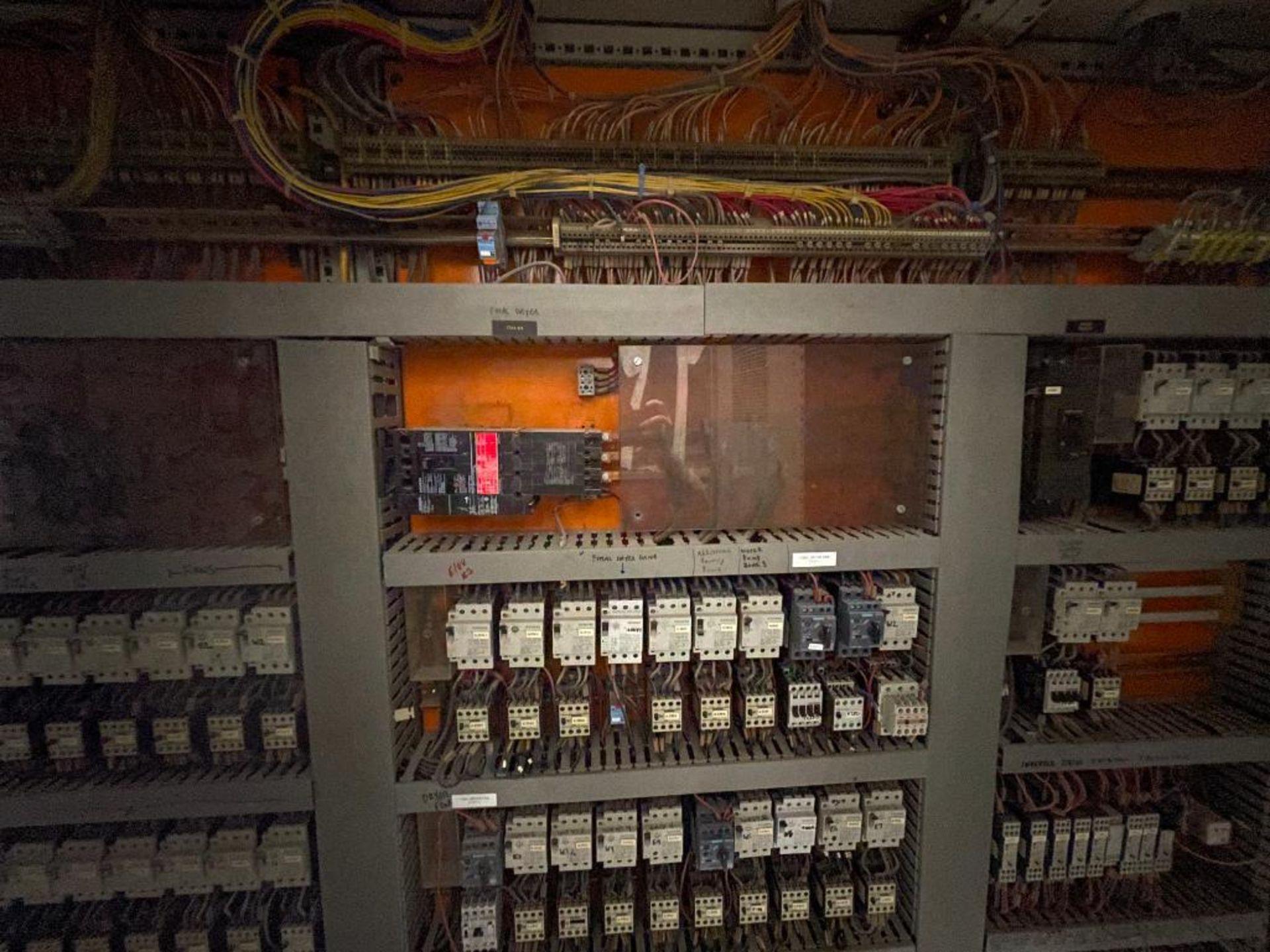 7-door mild steel air conditioned control cabinet, 5-VFD's - Image 36 of 43