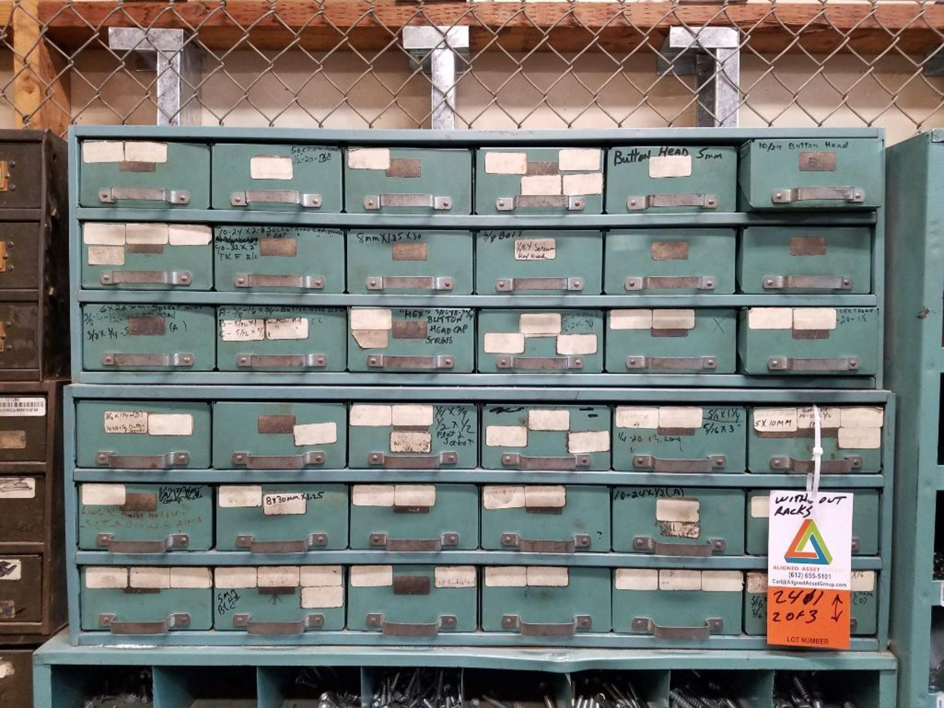 various nuts, bolts, screws, and pipes, storage units not included - Image 5 of 10